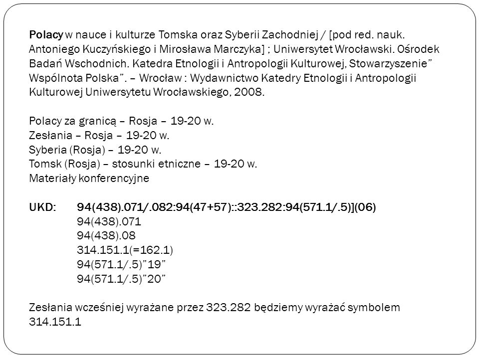 Polacy w nauce i kulturze Tomska oraz Syberii Zachodniej / [pod red